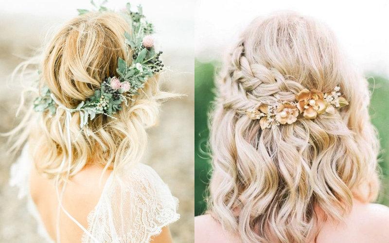 Весільні зачіски на коротке волосся фото - 11