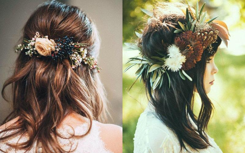 Весільні зачіски на коротке волосся фото - 3