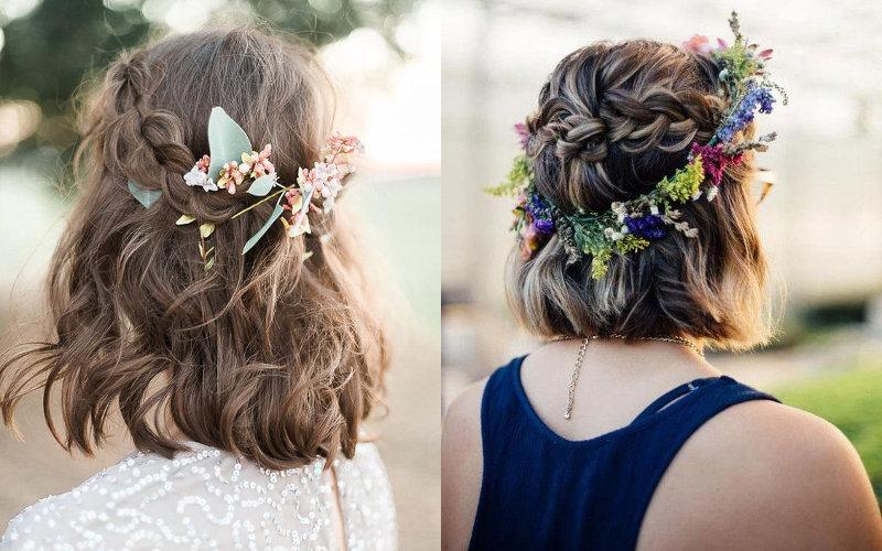 Весільні зачіски на коротке волосся фото - 4