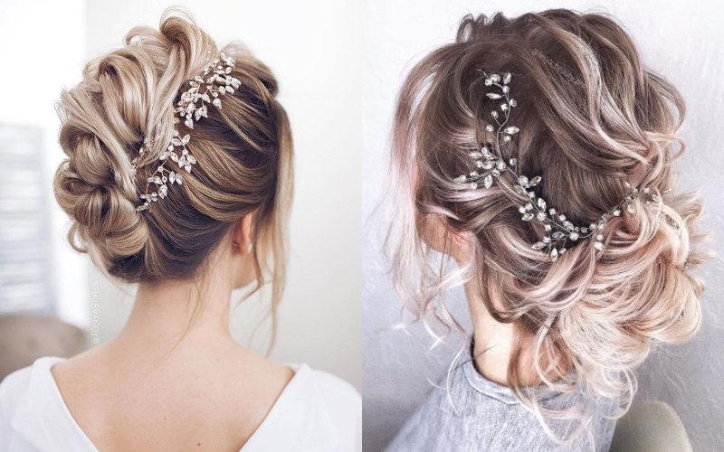 Весільні зачіски на коротке волосся фото - 6