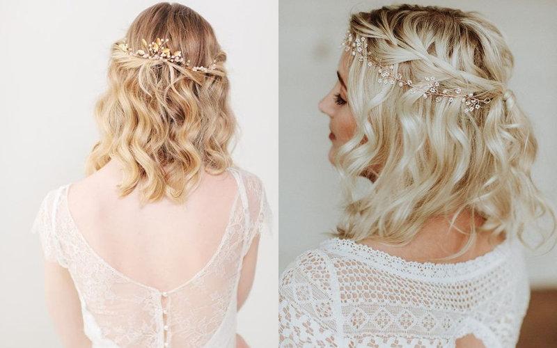 Весільні зачіски на коротке волосся фото - 7
