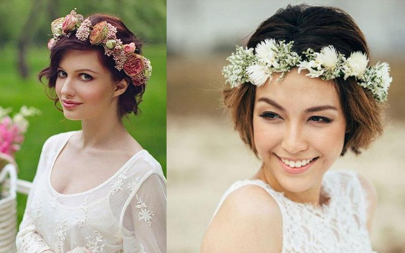 Весільні зачіски на коротке волосся фото - 8