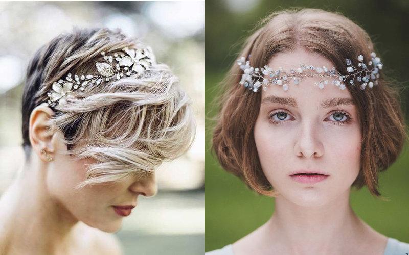 Весільні зачіски на коротке волосся фото - 9
