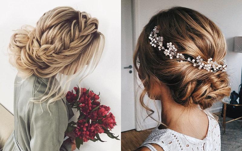 Весільні зачіски на середнє волосся фото - 10