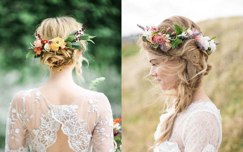 Весільні зачіски на середнє волосся фото - 12