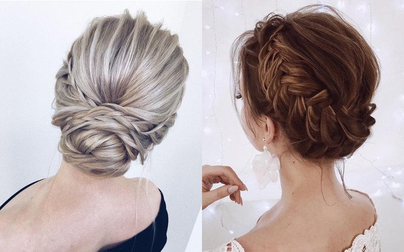 Весільні зачіски на середнє волосся фото - 14