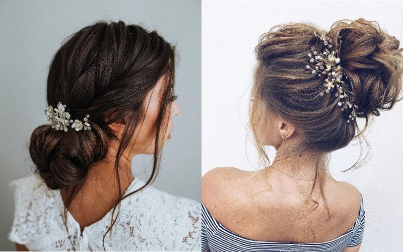 Весільні зачіски на середнє волосся фото - 4