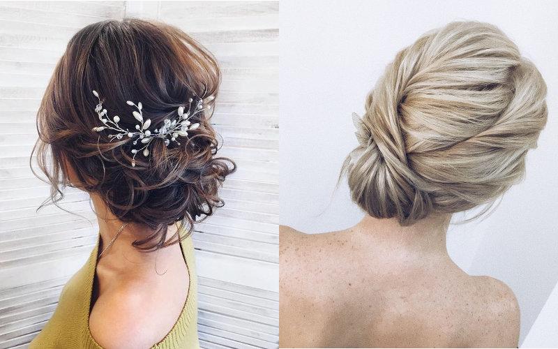 Весільні зачіски на середнє волосся фото - 5
