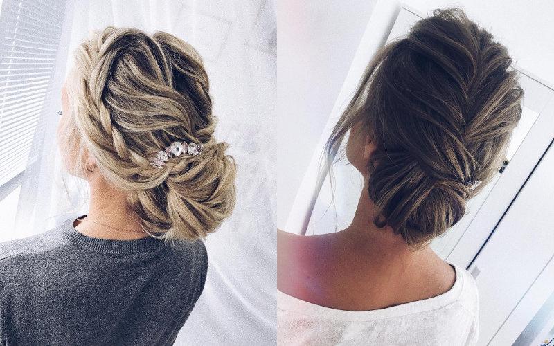 Весільні зачіски на середнє волосся фото - 7