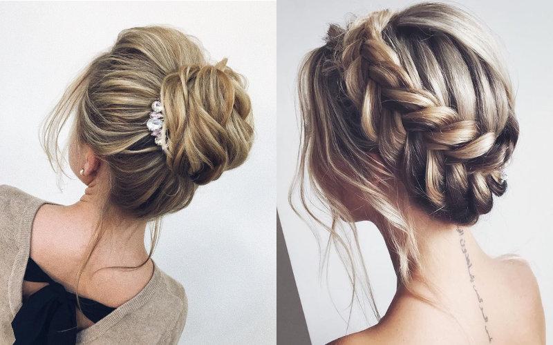 Весільні зачіски на середнє волосся фото - 8
