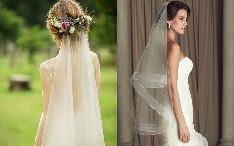 Весільні зачіски з діадемою та фатою фото - 10