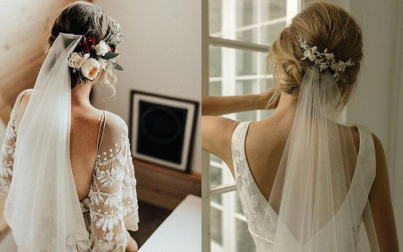 Весільні зачіски з діадемою та фатою фото - 4