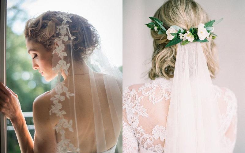 Весільні зачіски з діадемою та фатою фото - 6