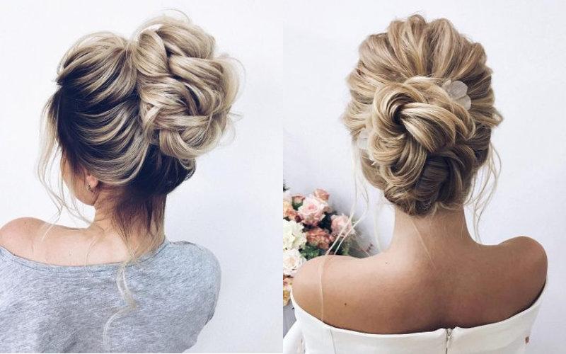 Весільні зачіски з елементами плетінням фото - 4