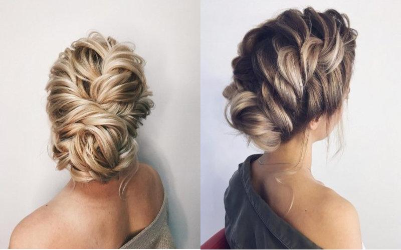 Весільні зачіски з елементами плетінням фото - 5