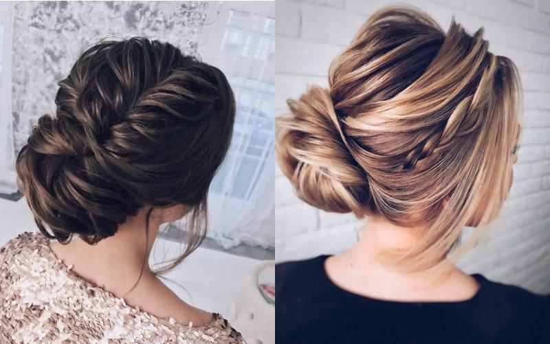 Весільні зачіски з елементами плетінням фото - 7