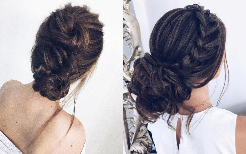 Весільні зачіски з елементами плетінням фото - 8